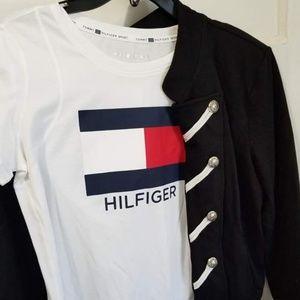 Tommy Hilfiger cotton blazer + shirt set